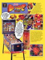 Dr. Dude And His Excellent Ray (pinball) — 1990 at Barcade® in Highland Park, Los Angeles, California | Game flyer graphic