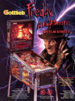 Freddy A Nightmare On Elm Street (pinball) — 1994 at Barcade® in Highland Park, Los Angeles, California | Game flyer graphic