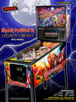 Iron Maiden Legacy of the Beast (pinball) — 2018 at Barcade® in Highland Park, Los Angeles, California | Game flyer graphic