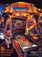 Medieval Madness (pinball) — 1997 at Barcade® in Highland Park, Los Angeles, California | Game flyer graphic