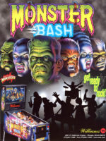 Monster Bash (pinball) — 1998 at Barcade® in Highland Park, Los Angeles, California | Game flyer graphic