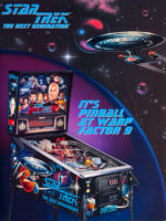 Star Trek The Next Generation (pinball) — 1993 at Barcade® in Highland Park, Los Angeles, California | Game flyer graphic