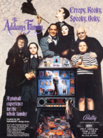 The Addams Family (pinball) — 1992 at Barcade® in Highland Park, Los Angeles, California | Game flyer graphic