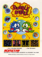 Bubble Bobble — 1986 at Barcade® in Highland Park, Los Angeles, California | Game flyer graphic