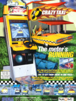 Crazy Taxi — 1999 at Barcade® in Highland Park, Los Angeles, California | Game flyer graphic