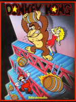 Donkey Kong — 1981 at Barcade® in Highland Park, Los Angeles, California | Game flyer graphic