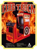 Fire Truck — 1978 at Barcade® in Highland Park, Los Angeles, California | Game flyer graphic