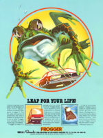 Frogger — 1981 at Barcade® in Highland Park, Los Angeles, California | Game flyer graphic