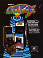 Galaga — 1981 at Barcade® in Highland Park, Los Angeles, California | Game flyer graphic