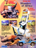 Jambo! Safari — 1999 at Barcade® in Highland Park, Los Angeles, California | Game flyer graphic