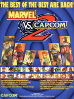 Marvel Vs. Capcom 2 New Age Of Heroes — 2000 at Barcade® in Highland Park, Los Angeles, California | Game flyer graphic