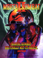 Mortal Kombat II — 1993 at Barcade® in Highland Park, Los Angeles, California | Game flyer graphic