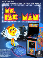Ms. Pac-Man — 1981 at Barcade® in Highland Park, Los Angeles, California | Game flyer graphic