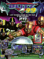 NFL Blitz '99 — 1999 at Barcade® in Highland Park, Los Angeles, California | Game flyer graphic