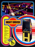 Night Driver — 1976 at Barcade® in Highland Park, Los Angeles, California | Game flyer graphic