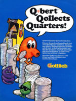 Q*Bert — 1982 at Barcade® in Highland Park, Los Angeles, California | Game flyer graphic