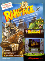 Rampage — 1986 at Barcade® in Highland Park, Los Angeles, California | Game flyer graphic