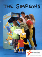 The Simpsons — 1991 at Barcade® in Highland Park, Los Angeles, California | Game flyer graphic