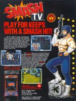 Smash T.V. — 1990 at Barcade® in Highland Park, Los Angeles, California | Game flyer graphic