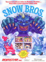 Snow Bros. — 1990 at Barcade® in Highland Park, Los Angeles, California | Game flyer graphic