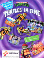 Teenage Mutant Ninja Turtles: Turtles In Time — 1991 at Barcade® in Highland Park, Los Angeles, California | Game flyer graphic