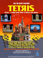 Tetris — 1988 at Barcade® in Highland Park, Los Angeles, California | Game flyer graphic