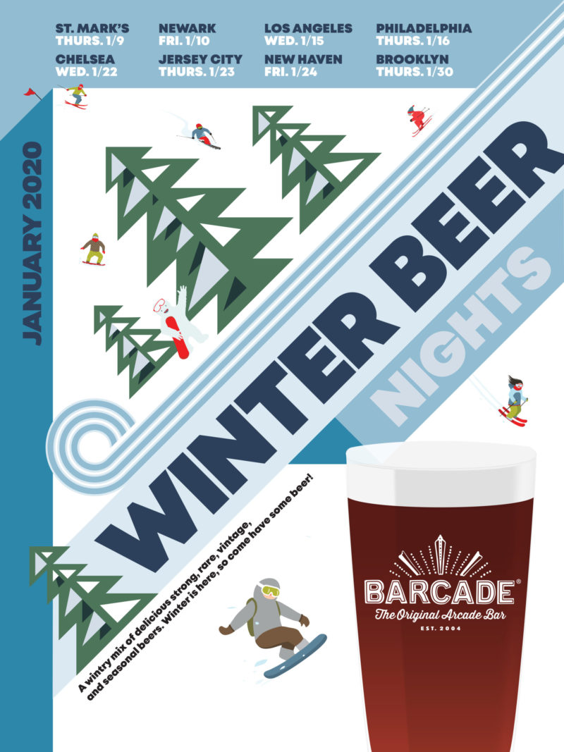 Winter Beer Night at Barcade on Wednesday, January 15th 2020 in Los Angeles, CA
